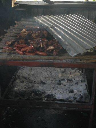 Pork Pit: Jerk Pork and Sausage.......... The best EVER!