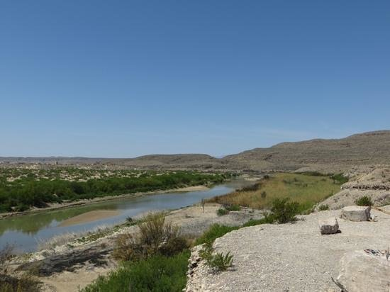 Big Bend National Park: Looking across to Boquillas, Mexico