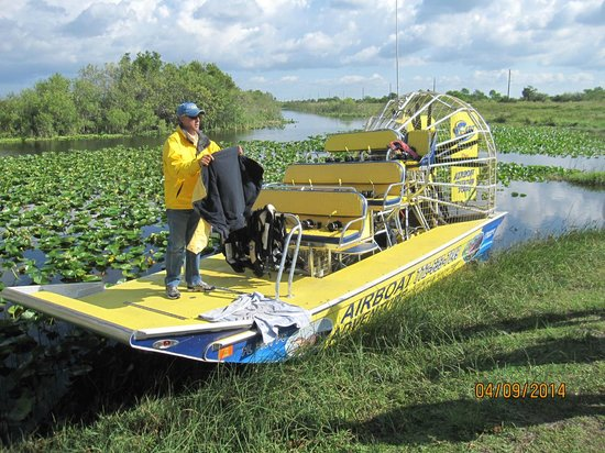 Bob S Airboat Adventure Tours Captain Welcoming Our Group