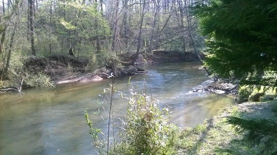 Etowah River Campground: Our camp site was just upriver of this photo