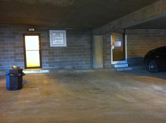 The McLure Hotel & Suites : Parking garage 5th Level, entrance to interior hallway is through door on right.
