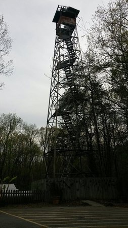 Madison County Nature Trail-Green Mountain : Tower outside of trail