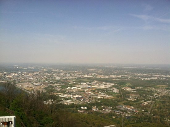 The Lookout Mountain Incline Railway: view from the top of the incline railway tower