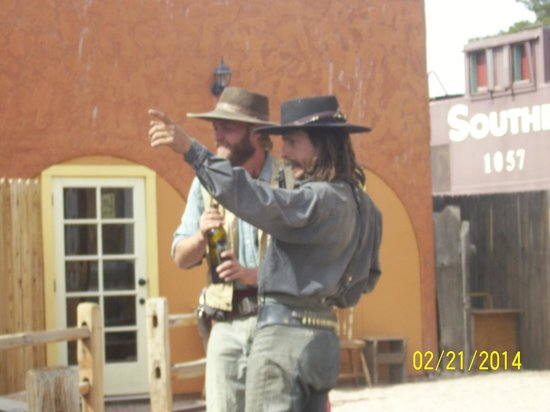 Old Tombstone Western Theme Park: the sheriff and his side kick