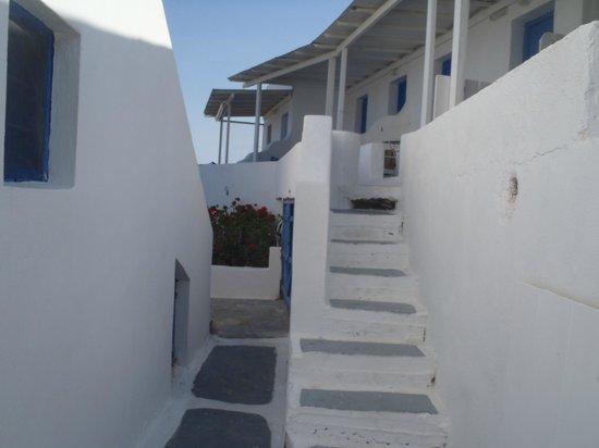 Angelika Studios: Lots of winding walkways and steps