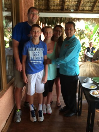 Zoetry Agua Punta Cana: The family with our main man, Pedro.