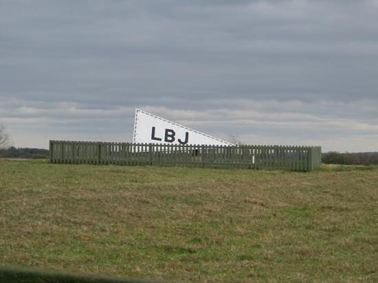 Lyndon B. Johnson State Park & Historic Site: Airport tetrahedron