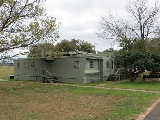 Lyndon B. Johnson State Park & Historic Site: Secret Service communications trailers