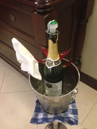 Sandals Royal Caribbean Resort and Private Island : champagne upon arrival