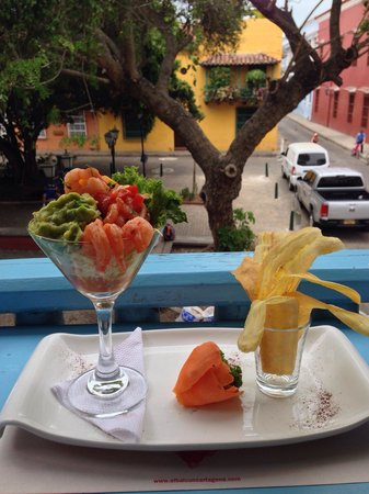 El Balcon Eat Drink Love: Shrimp ceviche