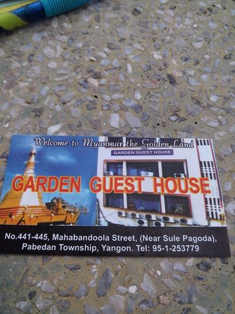 Garden Guest House: Визитка