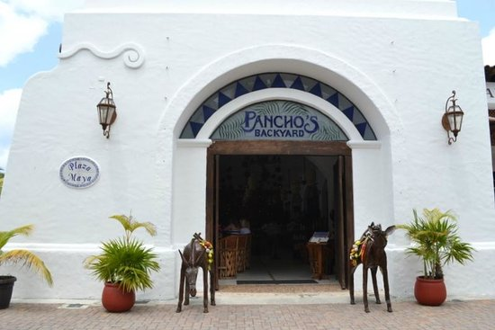 Pancho's Backyard: View from front of Restaurant...