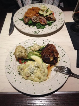 J Morgan's Steakhouse : Veal cutlet and bacon wrapped steak entrees