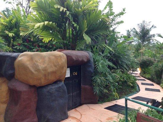 Blue River Resort & Hot Springs : grounds and hidden maintenance for sauna