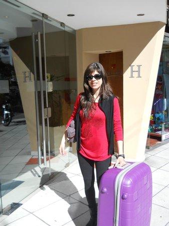 Hotel Milan : en la puerta