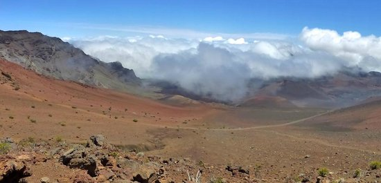 Haleakala Crater: panorama from trail