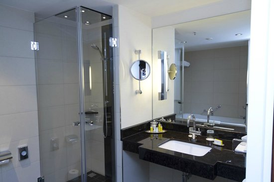 Berlin Marriott Hotel: Vanity & Shower