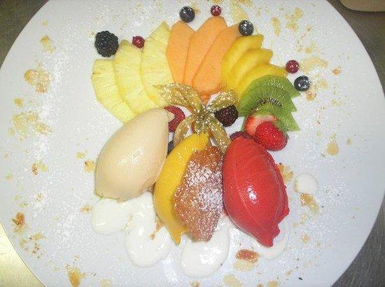 Restaurant & Hotel Zum Lowen: Sorbet made in the Kitchen