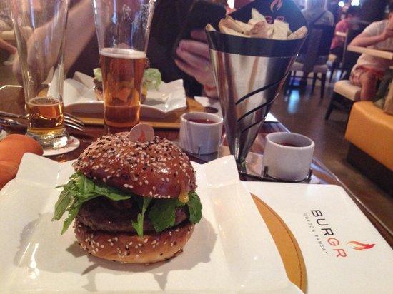 Gordon Ramsay Burger: Chanterelle Burger and just fries