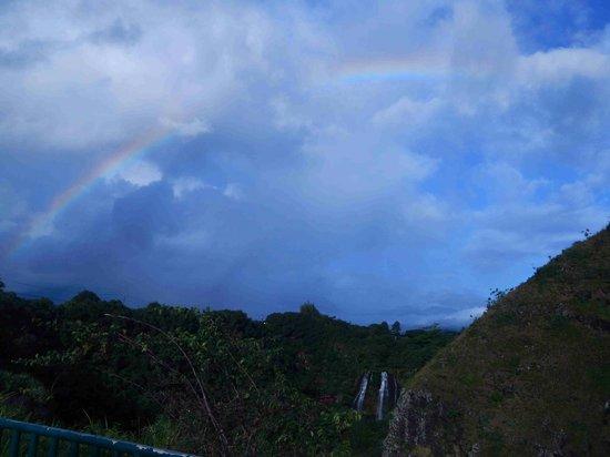 Rainbow above Opaekaa Falls - an Extra Treat!