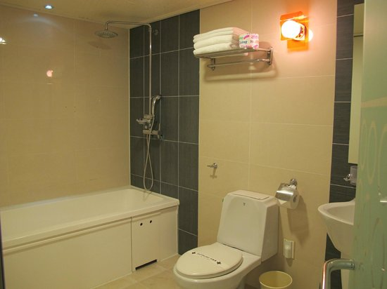 Hill House Hotel: The bathtub..no shower curtain