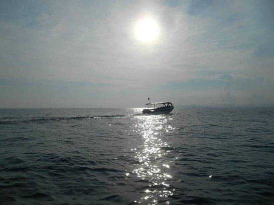 Scuba Junkie Mabul Beach Resort : Boat ride