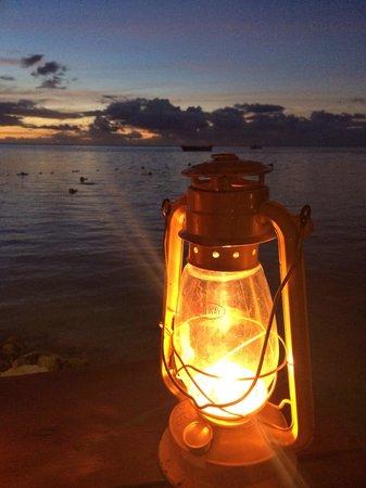 Moorea Beach Cafe: Sunset dinner