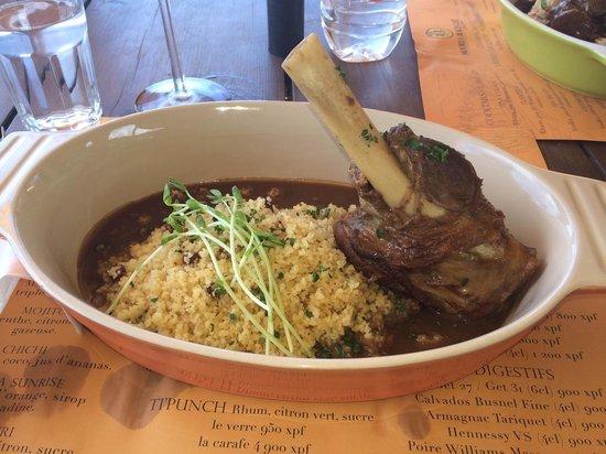 Moorea Beach Cafe: Lamb