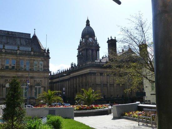 Leeds Town Hall: View from Nelson Mandela garden