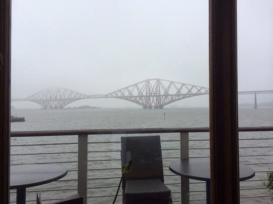 A grey misty day from the restaurant but still spectacular!
