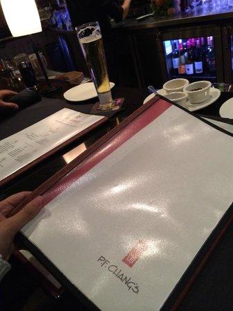 P.F. Chang's: Menu at the bar :)