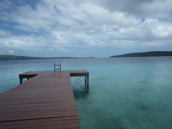 The Havannah, Vanuatu: view from the pier dining table
