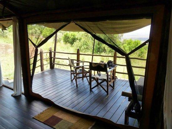 Kilima Camp : La terrasse