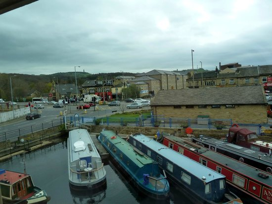 Premier Inn Huddersfield Central Hotel: View from our room of Castle Hill