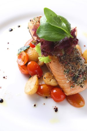Le Jardin: Pan seared fish with summer vegetables