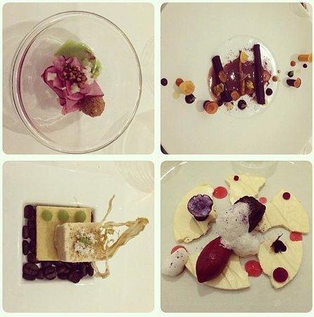 TIAN Restaurant Wien: Sélection d'entrées et de plats de Tian