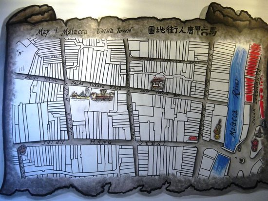 Layang Layang Guest House: Map mural