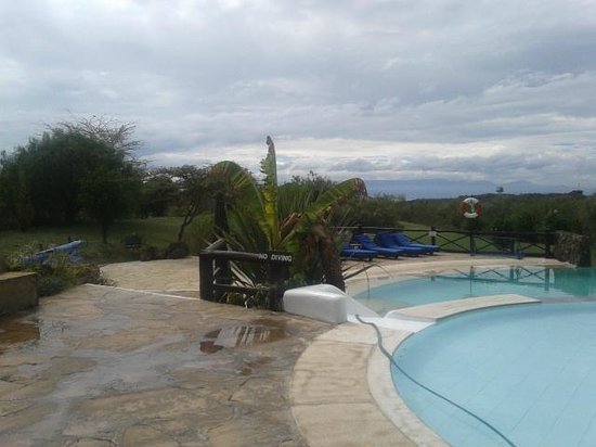 Great Rift Valley Lodge & Golf Resort: View from the poolside