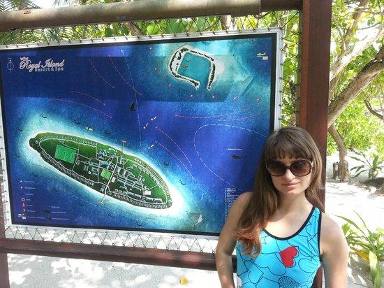Royal Island Resort & Spa: план острова