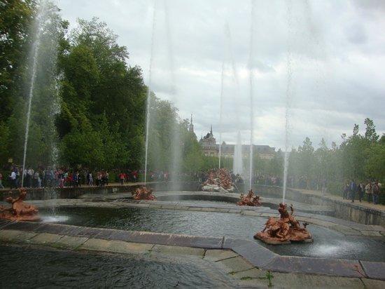 Jardines de la Granja de San Ildefonso: fuente  Carrera de Caballos