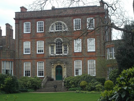The rear view of Peckover House