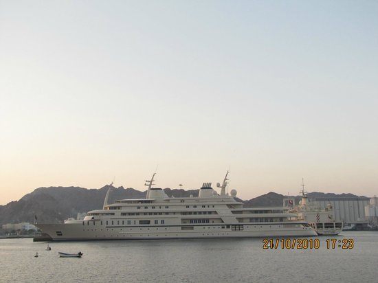 The Royal 'Al Said' yacht, berthed in the Corniche.