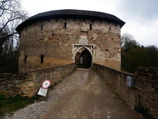 Pernstejn Castle: Main entrance to the Hrad