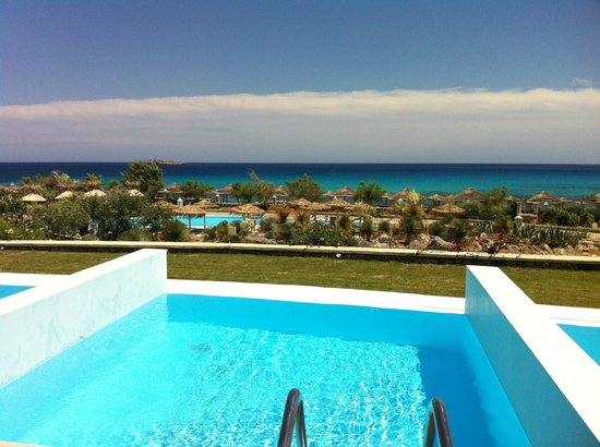 AquaGrand Exclusive Deluxe Resort: private pool with seaview