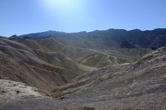 Zabriskie Point: View from the observation plateau