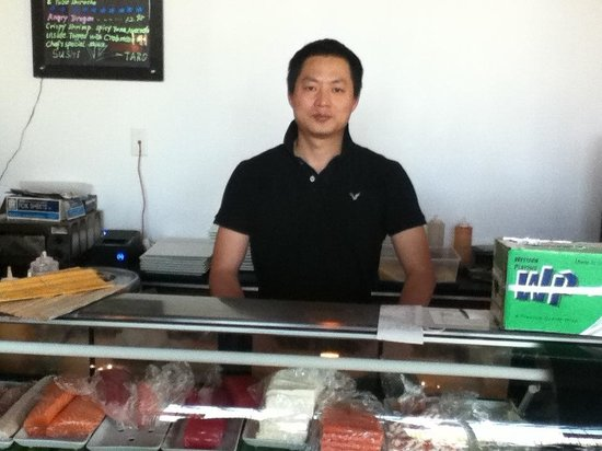 Master Sushi Chef and owner of Sushi Taro, Eddie! He makes the best Sushi and Japanese Cuisine