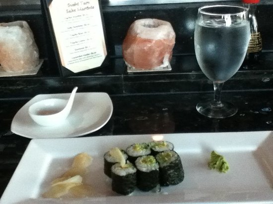 Dinner at Sushi Taro beginning with an exquisite Avocado Maki Roll from their extensive list of