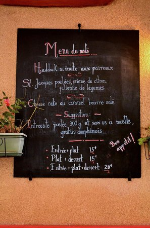 Le Melting Pot : Nos menu du jour
