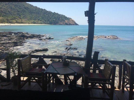 Ao Mai Phai (Bamboo Bay): vista dalla terrazza dove si mangia