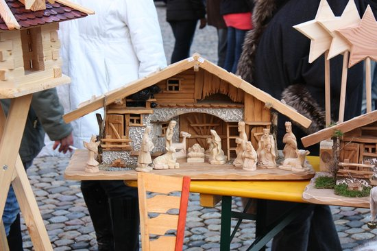 Münsterplatz: Presepe in vendita al mercato